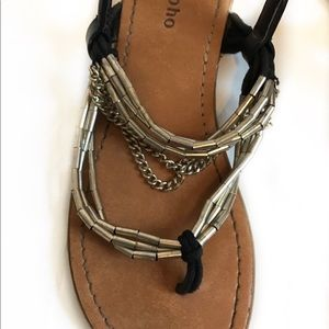 Zigi Soho Shoes - Zigi Soho-Embellished Chain Thong Sandals